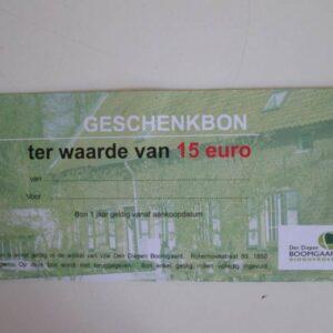 Geschenkbon hoevewinkel 15euro kadobon